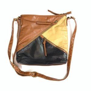 Handbags - Faux Leather Crossbody Bag Brown Trendy Medium